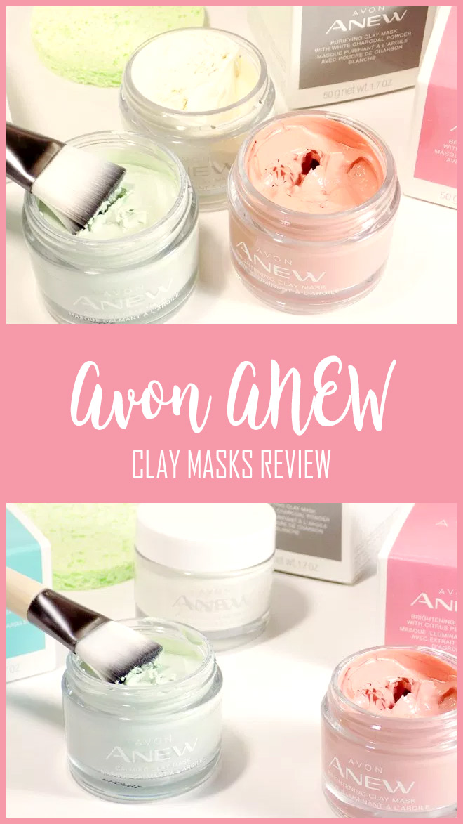Avon ANEW Clay Mask Reviews - MultiMasking - Avon ANEW Brightening Purifying and Calming Clay Masks