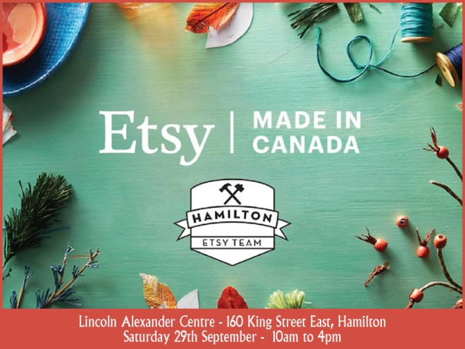 Etsy Made in Canada Hamilton 2018 Recommendations
