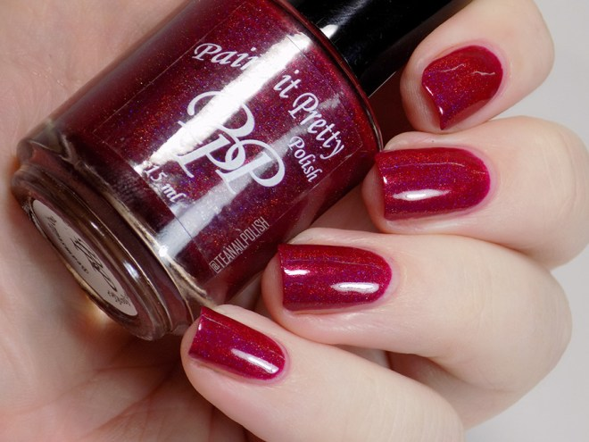 Paint it Pretty Polish Can You Make This Sparkle Holo Polish - Swatches in Artificial Light