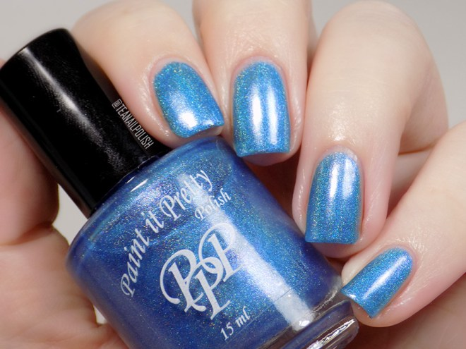 Paint it Pretty Polish Out of The Blue Holo Polish - Artificial Light Swatches