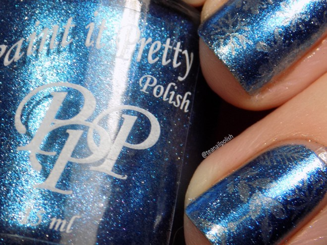 Paint it Pretty Polish Winter to my Wonderland -- Metallic Holiday Collection 2018 - Stamped Closeup