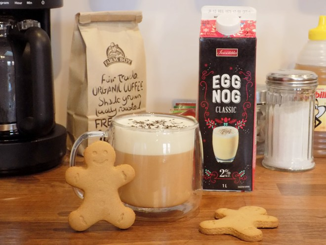 Eggnog Latte with Davidstea Gingerbread Tea