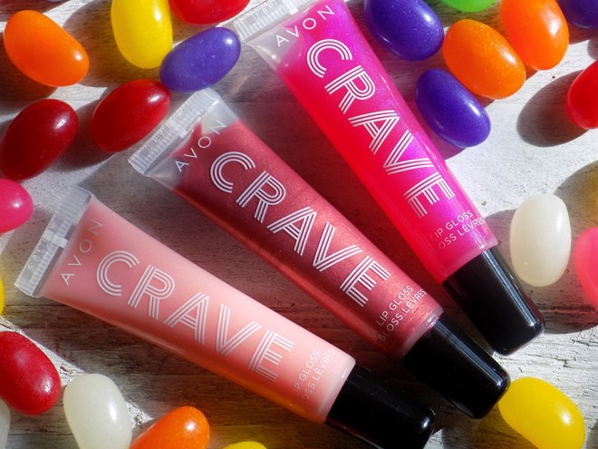 Avon Crave Lip Glosses Reviews - Birthday Cake - French Toast - Strawberry Glaze