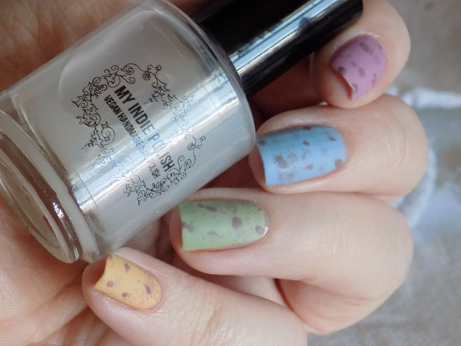 Mini Eggs Nail Art CBBxManiMonday Easter Nail Art - My Indie Polish My Perfect Matte