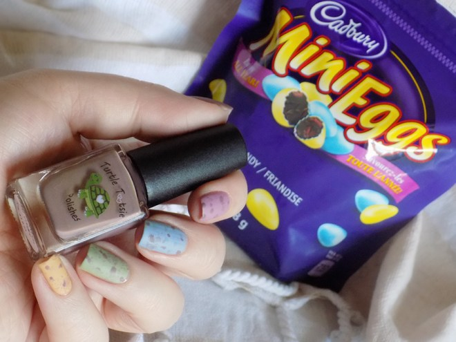 Mini Eggs Nail Art CBBxManiMonday Easter Nail Art with Turtle Tootsie Pet Peeves