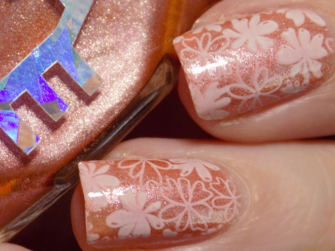 Floral Nails with Alter Ego Women Inherit the World 2
