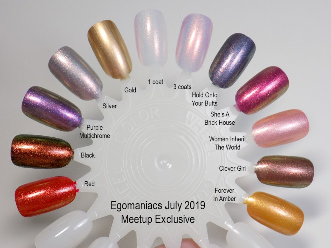 Egomaniacs July Meetup Exclusive Swatches Swatch Wheel Topper Alter Ego
