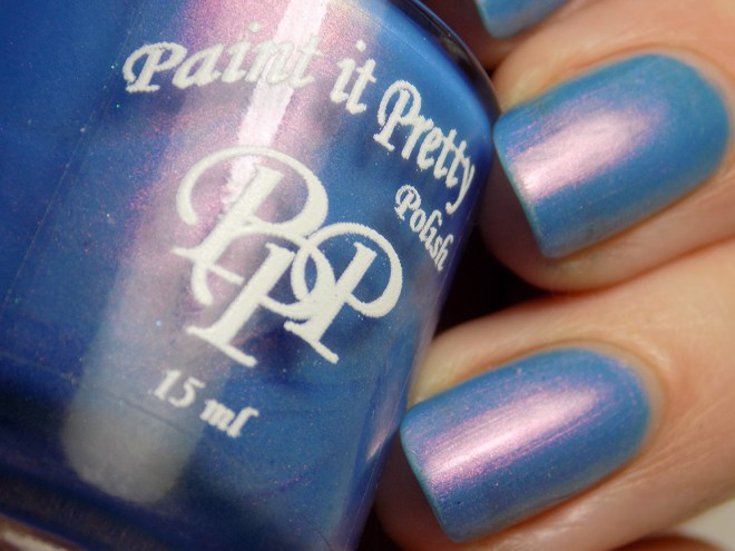Paint it Pretty Polish - Go For It - Indie Love & Light - Swatch in Artificial Lighting Closeup