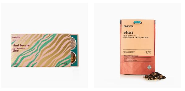 DAVIDsTEA Chai Collection Fall 2019 - Chai Discovery Passion Kits