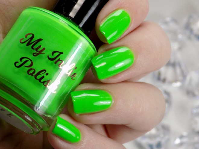 My Indie Polish Neon Green Swatches