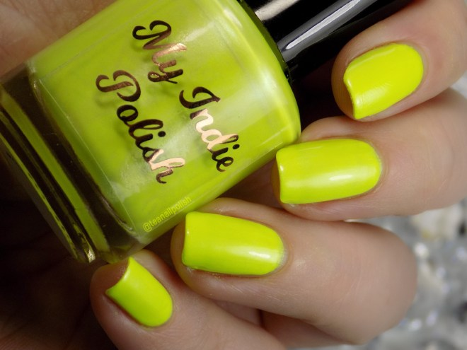 My Indie Polish Radioactive Swatches Neon Yellow Polish