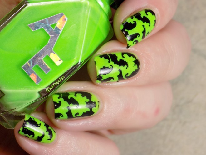 Alter Ego Alterween Glow in the Dark Nail Polish - Bat Stamping - Light 1