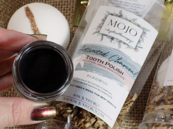 Mojo HydroTherapy Activated Charcoal Tooth Polish Review - Craftadian Hamilton