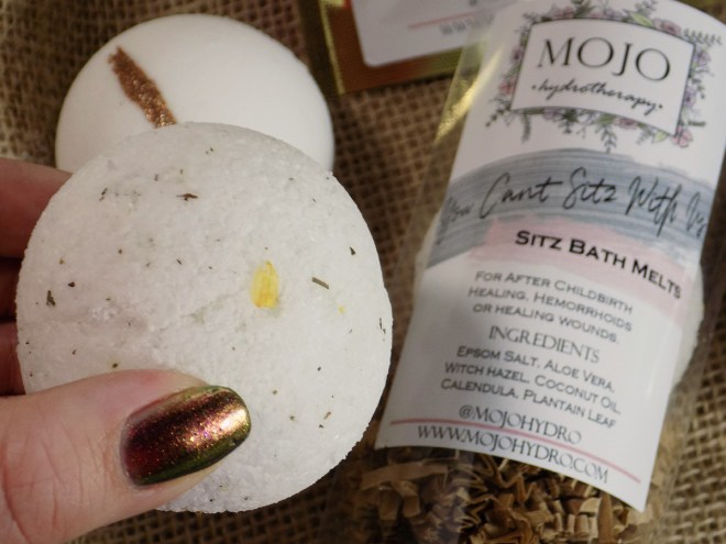 Mojo HydroTherapy sitz Bath Melts Review - Craftadian Hamilton