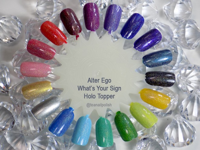 Alter Ego Whats Your Sign holo topper swatches