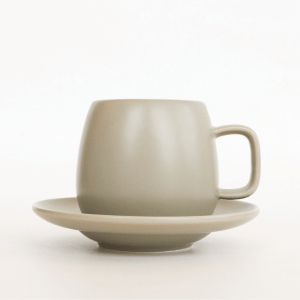 T2 Hugo Cup and Saucer Grey