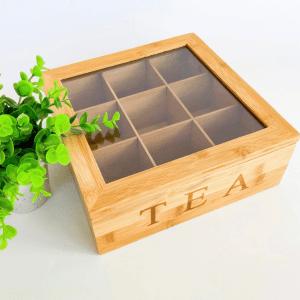 Tea Storage Box 9 partition
