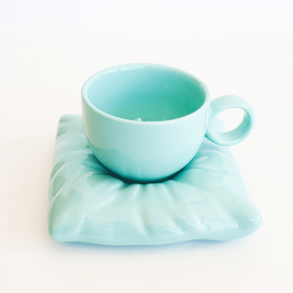 Pillow cup and saucer tiffany