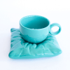Pillow cup and saucer turquoise