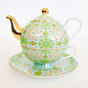 Turksih tea set green