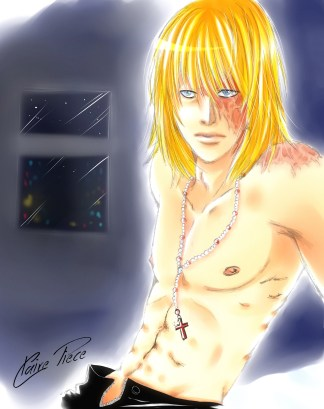 Mello fan art from Death Note by Claire Piece. All character rights are reserved by Tsugumi Ōba and Takeshi Obata