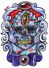 Crystal Skull by Claire Piece
