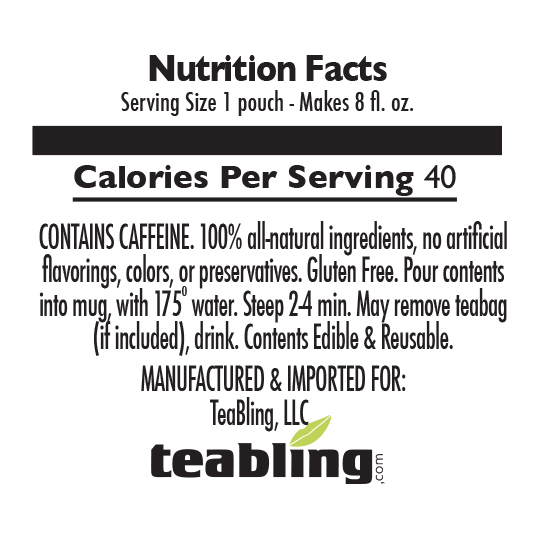 Nutrition Label: With Sugar | With Caffeine