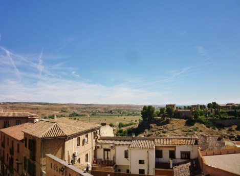 View from the foot of the Alcázar de Toledo