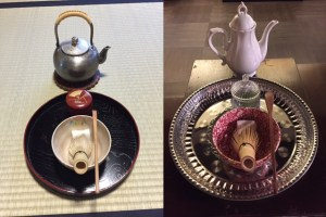 tea ceremony with western dishes