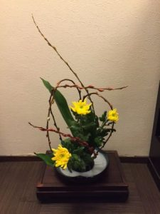 Modern Japanese flower arrangement