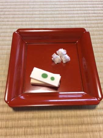 Delicious Japanese cookies in Teramachi Oike, Kyoto