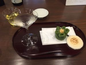 sake and sweets