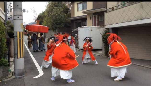What a curious festival in Kyoto Imamiya shrine!