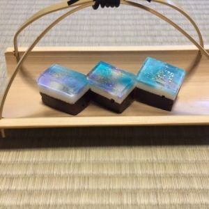 """Japanese sweets for tea ceremony """"milky way"""""""