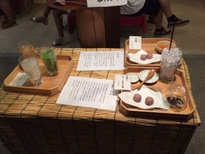 Japanese sweets and drinks