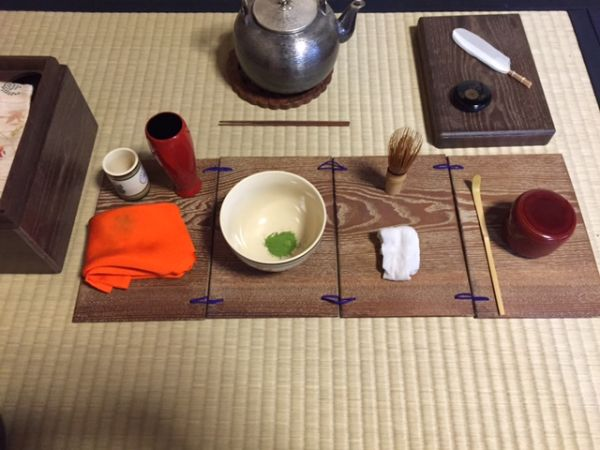 Japanese tea ceremony for moon