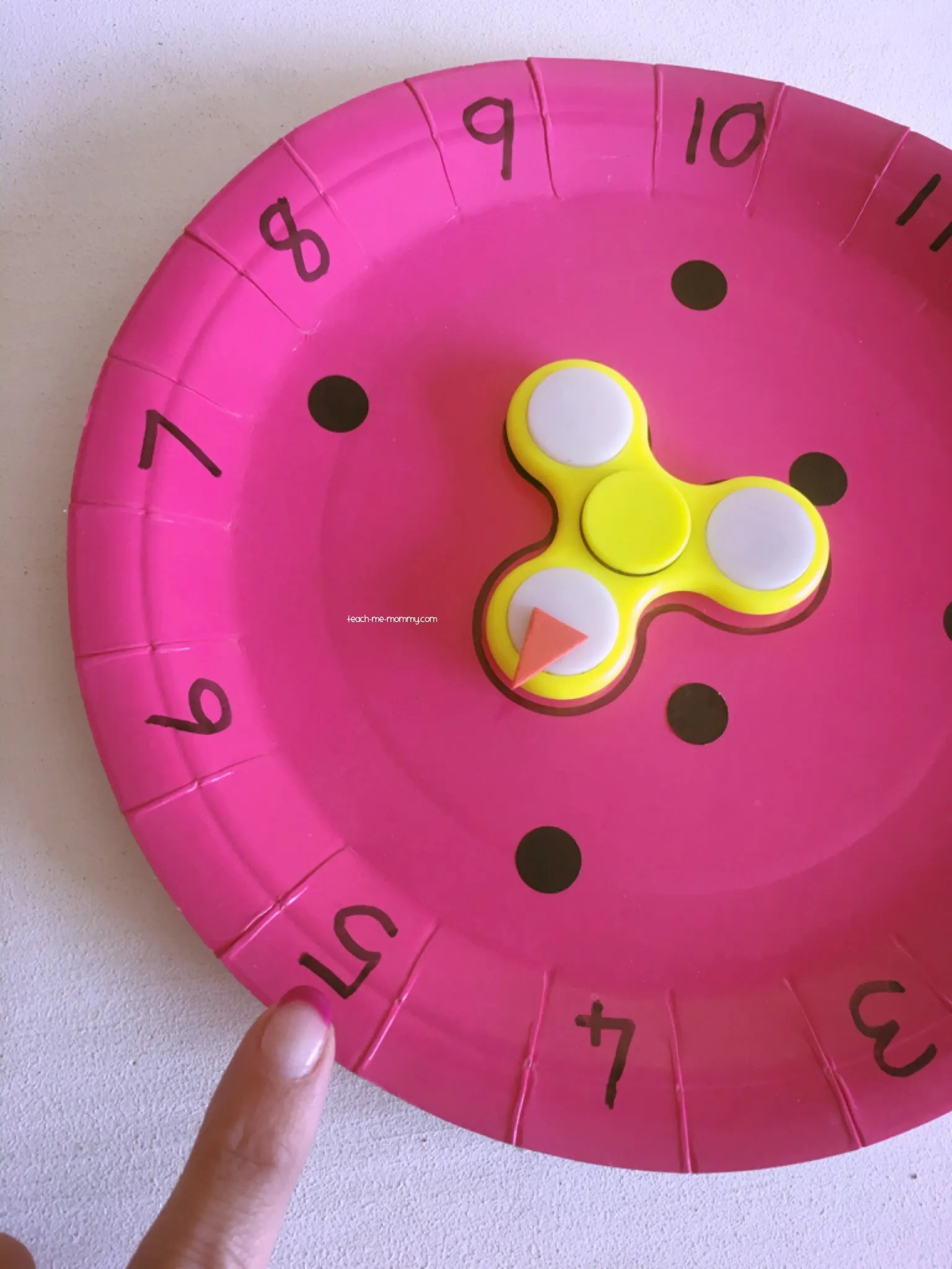 Paper Plate Amp Spinner Numeracy Games