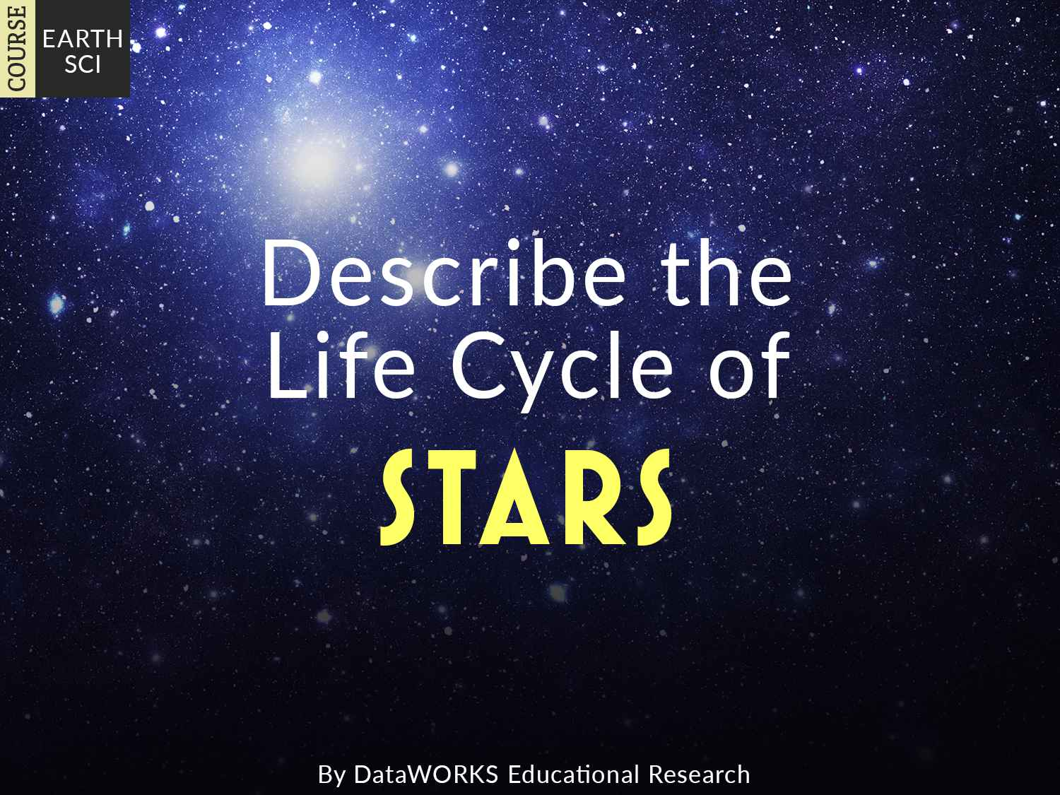 Describe The Life Cycle Of Stars