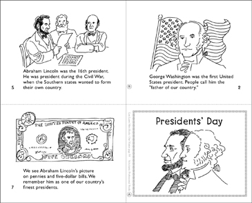 Presidents' Day | Printable Mini-Books