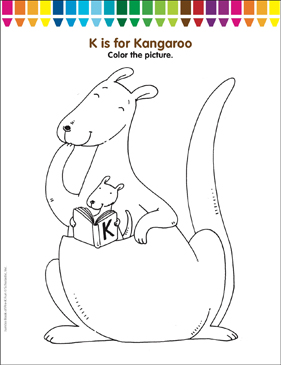 kangaroo coloring pages # 74