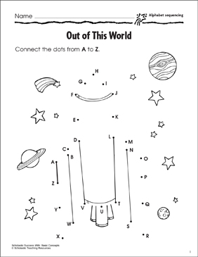 Out Of This World Alphabet Sequencing