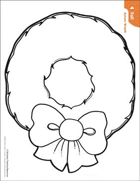 wreath template printable # 5