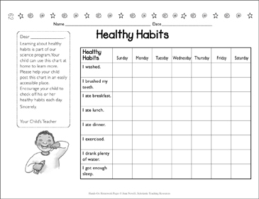 Healthy Habits Chart