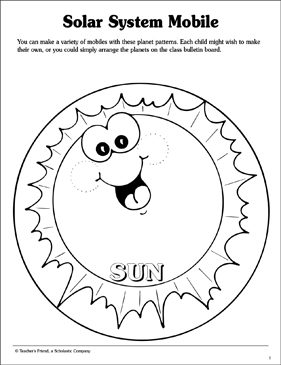 Solar System Mobile Printable Craftivities And Skills Sheets