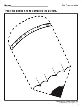 Tracing A Pencil Preschool Fine Motor Skills
