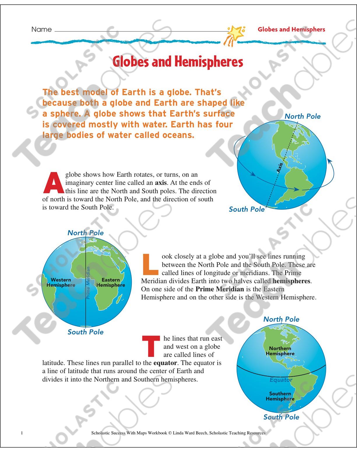 Happy Hemispheres Worksheet Answers