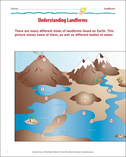 Understanding Landforms Map Skills
