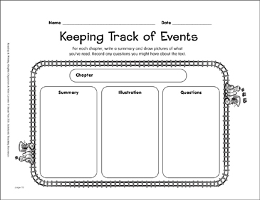 Reading Graphic Organizer Keeping Track Of Events