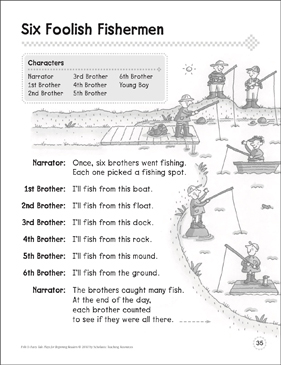 Six Foolish Fishermen A Beginning Reader Play