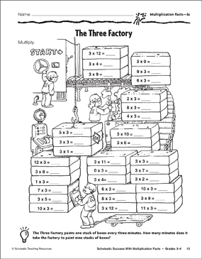 The Three Factory Multiplication Facts 3s